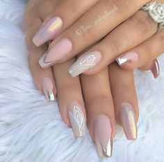 modern french nails Tips French Nails Glitter, Sparkle Nails, Glam Nails, Beauty Nails, Shellac Nails, Acrylic Nails, Matte Nails, Pointy Nails, Nails 2018