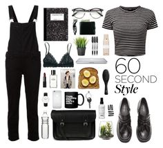 """Black Hole"" by leylamia ❤ liked on Polyvore featuring Paige Denim, H&M, The Cambridge Satchel Company, Aesop, Threshold, Maison Margiela, Sharpie, Madewell, Balmain and Dot & Bo"