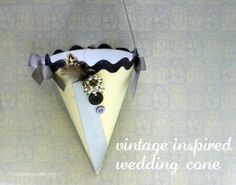 vintage inspired wedding cone - make 8 for $1 - dollar store craft
