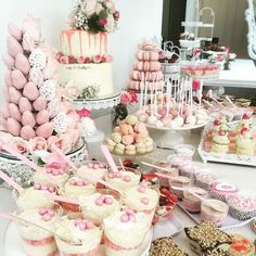 An awesome DIY setup from last week for Sarah's Baby shower! @sarah.karaali  This not only looks amazing but great feedback on how tasty everything was!!!! Macaron tower @arelio_sweetbox  Strawberry tower @doms.strawberries.delight  Props @elegant_tea_time  Oreo bites and lace @the.sugar.co  Cake and desserts by @b_ali__  Melting moments by @its_miimz by arelio_sweetbox