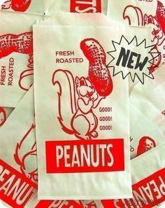 vintage peanut paper bags