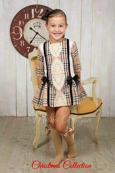 Little Girl Outfits, Cute Girl Outfits, Cute Little Girls, Little Girl Dresses, Pretty Outfits, Kids Outfits, Girls Dresses, Tartan, Mini Skirt Dress