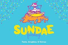 Sundae Funday Fonts & Graphics by Scott Howard on @creativemarket