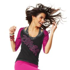 Funk-It-Up Baseball Tee | Zumba Fitness Shop #newcollection #zumbawear #zwag