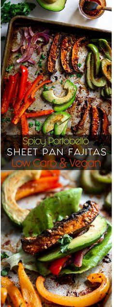 ll Inspector Gorgeous The post Spicy Portobello Sheet Pan Fajitas appeared first on Vegan. Mexican Food Recipes, Whole Food Recipes, Vegan Recipes, Dinner Recipes, Cooking Recipes, Cooking Tips, Vegetarian Mexican Food, Spicy Vegetarian Recipes, Vegan Fajitas