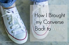 Sharing my method for how I brought my Converse All Stars back to white and looking new again using natural, safe products.