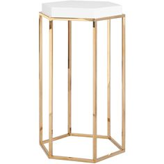 Worlds Away Elsa White with Brass Side Table ($522) ❤ liked on Polyvore featuring home, furniture, tables, accent tables, worlds away side table, worlds away table, brass end table, white end table and brass side table