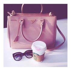 Friday Morning Essentials Lets go get 'em #inspo #prada #friday #pink #handbag #style #coffee #beautiful #starbucks #bestoftheday #picoftheday #like4like #follow #like #nude #pink #fblogger #instagood #instalike #instamood #instadaily #blogger #bloggerstyle #bblogger #love #pretty #girly #fashion #sunglasses #friday