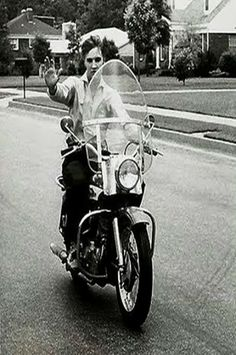 Elvis on a motorcycle