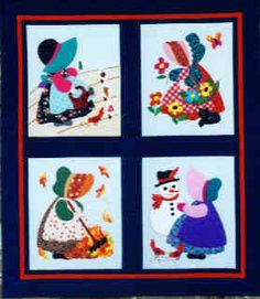 PT2096 Four Seasons of Sunbonnet Sue by Holiday Design, Quilt Pattern
