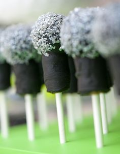 Microphone Cake Pops. So fun for a Rock Star Birthday Party.