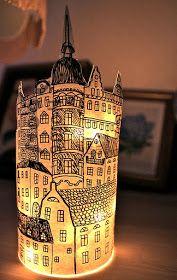 Rebeccas DIY: DIY: Papperslyktan Södermalm * Paper lantern Stockholm