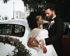 A beautiful styled shoot, full of vintage Art Deco Glamour inspired by the Photography by Prince Photography Interracial Couples, Interracial Wedding, Beaux Couples, Cute Couples, Prince Photography, Wedding Photography, Black Woman White Man, Mixed Couples, Black Bride