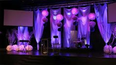 Curtains Lights And Some Wee Decoration Very Effective Simple Stage Decorations Church