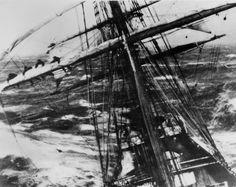 Sailing ship in a storm VPL Accession Number: 3194 Date: 1919 Photographer/Studio: Frank, Leonard Content: Sailing vessel 'Garthsneid' off Cape Horn during a storm. 'Garthsneid' stamped on original photo http://www.vpl.ca/find/cat/C393