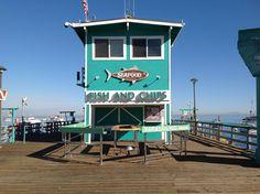 Avalon Seafood on the Green Pleasure Pier, Catalina Island CA.
