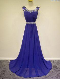 Bg1177 Long Prom Dress,Chiffon Prom Dresses,Beading Prom Dresses,Evening