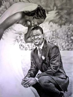 The Art of Kwesi Pencil black art marriage love realism