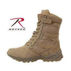 """Rothco Forced Entry Desert Tan 8"""" Deployment Boots with Side Zipper Item-Rothco 5357"""