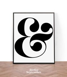 Typography Print, Printable Wall Art, Wall Art, Digital Download, Ampersand type…