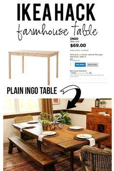 Wonderful Ikea Hack For Dining Room Table   Pottery Barn Imitation