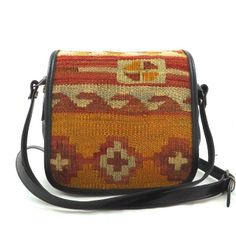Saddle Bag  Small - Orange/Yellow #musicfestival #tribal #trend Orange Yellow, Small Bags, Saddle Bags, Collections, Small Tote Bags, Molle Pouches
