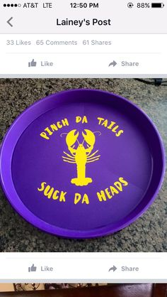 Personalized Crawfish Tray Gift By Southerngirlsquared On