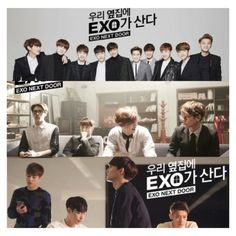 EXO NEXT DOOR is Exo's new drama with them as the main characters. It airs on April 2015. Exo Saranghaja ❗