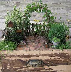 Dekorera trädgård - trädgårds miniatyrer - Fair Masters - handgjorda, handgjorda