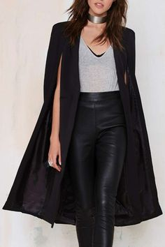 Fall Fashion 2015. Leather and capes! ::M::