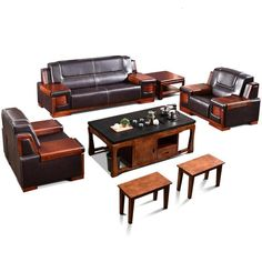 #leather sofa set Sofa Furniture, Wooden Furniture, Furniture Plans, Leather Sofa Set, Diy Sofa, Living Room, Studio, Couch Furniture, Timber Furniture