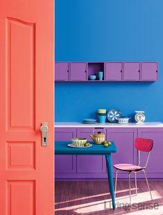 자연을 품은 광채, 리빙 코럴 Home Design, Home Interior Design, Interior Decorating, Interior Exterior, Interior Architecture, Wall Color Combination, Elegant Homes, Eclectic Decor, Room Paint