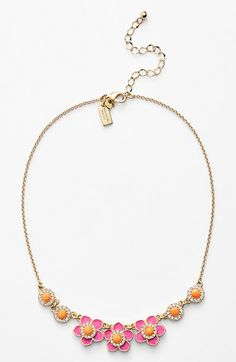 Gorgeous! This is such a sparkly floral Kate Spade necklace.