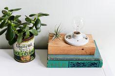 DIY: Wooden Block Desk Lamp | Farm Fresh Therapy for Homedit