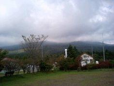 Mt. FUJI behind the clouds..