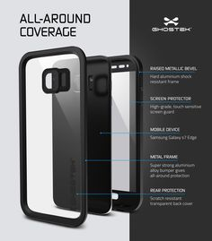 Galaxy S7 EDGE Waterproof Case, Ghostek® Atomic 2.0 Black  Water/Shock/Dirt/Snow…