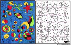 Art Projects for Kids: Ode to Joan Miro Mural Diagram: