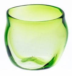 Imo Glass Green (d80 x h80mm) mfr. Ryukyu Glass Craft Imo Glass: Potato Glass, Okinawa