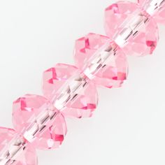 Swarovski Crystal 8x6mm 5040 Rondelle Bead Light Rose (223)
