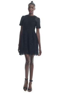 Tibi Black Sigrid Lace Dress