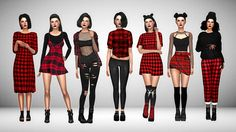 Edgy in plaid * hair xx - * dress xx - rusty Princess Inspired Outfits, Sims 4 Dresses, Sims 4 Characters, Sims 4 Mm Cc, Sims 4 Toddler, Sims 4 Cas, Sims 4 Cc Finds, Sims 4 Clothing, Sims Mods