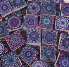 or 36 Pieces 16 Ceramic Mosaic Tile Pack -Various Colors MoroccanSpanishMexicanItalian Tile Pieces Mosaic Art  Mixed Media- 9