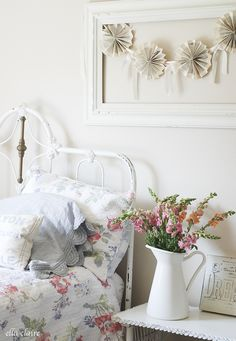Adorable little girl's room | Ella Claire Summer Home Tour - frame with banner