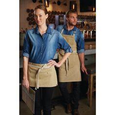 Delantal con peto color Arena unisex Chef Works Austin