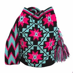 """New Cheap Bags. The location where building and construction meets style, beaded crochet is the act of using beads to decorate crocheted products. """"Crochet"""" is derived fro Tapestry Crochet, Samara, Bead Crochet, Diy Projects To Try, Tapestries, Retail Price, Fair Trade, Vivid Colors, Christmas Sweaters"""