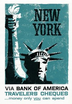 Hey, I found this really awesome Etsy listing at https://www.etsy.com/listing/179912399/vintage-new-york-ad-for-bank-of-america
