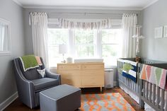 cheerful, whimsical space for twins