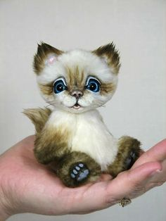 Molly the Mini Kitty by White Forest Bears