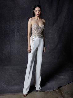 Shop our chic Enzoani Couture Wedding Dress and Bridal Gown Collection at Bridal Reflections. Couture Wedding Gowns, Bridal Gowns, Wedding Dresses, Wedding Suits For Bride, Best Wedding Suits, Wedding Jumpsuit, Wedding Dress Pictures, Dress Out, Jumpsuit Dress