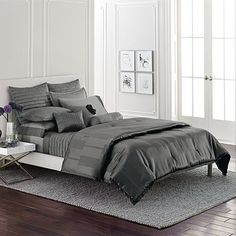 Simply Vera Wang Grey Mist Bedding. Lush!